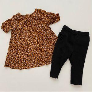 Old Navy Girl's Leopard Dress & Ruffle Leggings